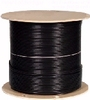 Coaxial Cable:  Outdoor Rated RG59 Coaxial Cable 500 ft Black